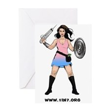 1in7InfertilityWarrior Greeting Cards