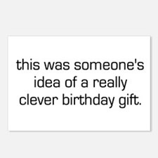 Clever Birthday Gift Postcards (Package of 8)