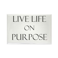 Live Life on Purpose Rectangle Magnet (10 pack)