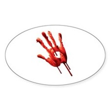 Bloody Hand Print Decal