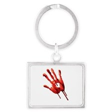 Bloody Hand Print Keychains
