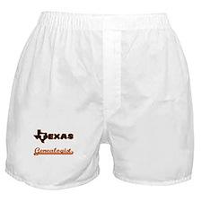 Texas Genealogist Boxer Shorts