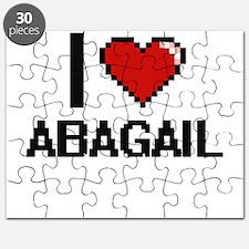 I Love Abagail Digital Retro Design Puzzle