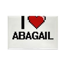 I Love Abagail Digital Retro Design Magnets