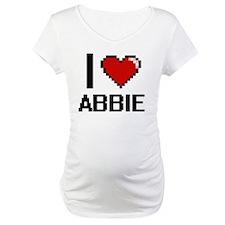 I Love Abbie Digital Retro Desig Shirt