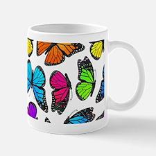 Rainbow Monarch Butterfly Pattern Mug