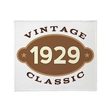 1929 Birth Year Birthday Throw Blanket