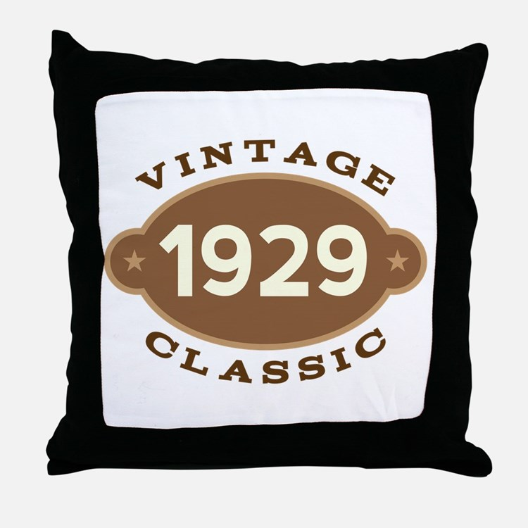 1929 Birth Year Birthday Throw Pillow