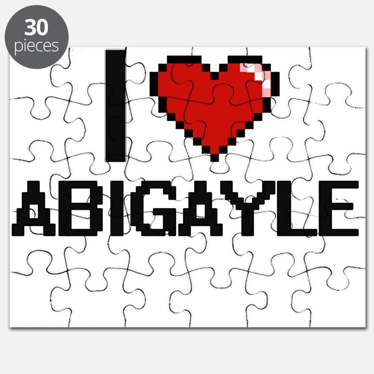 I Love Abigayle Digital Retro Design Puzzle