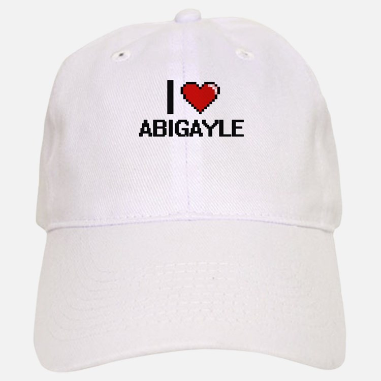 I Love Abigayle Digital Retro Design Baseball Baseball Cap