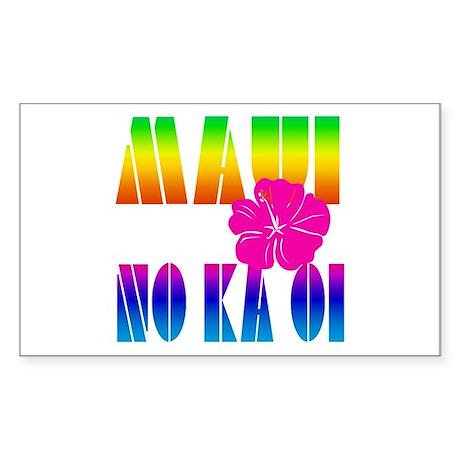 Maui No Ka Oi Rectangle Sticker