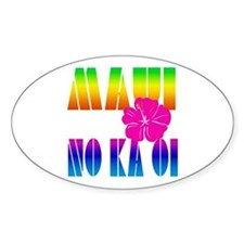 Maui No Ka Oi Oval Decal