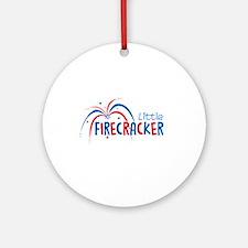 Little Firecracker Ornament (Round)