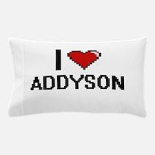 I Love Addyson Digital Retro Design Pillow Case