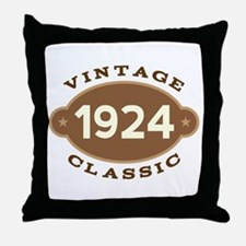 1924 Birth Year Birthday Throw Pillow