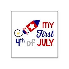 My First 4th of July Sticker