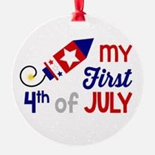 My First 4th of July Ornament