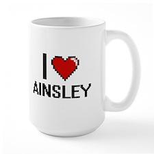 I Love Ainsley Digital Retro Design Mugs