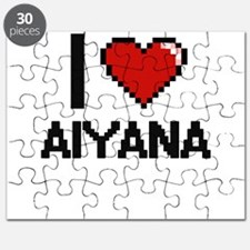 I Love Aiyana Digital Retro Design Puzzle