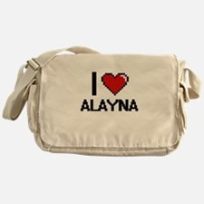 I Love Alayna Digital Retro Design Messenger Bag