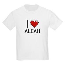 I Love Aleah Digital Retro Design T-Shirt