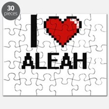 I Love Aleah Digital Retro Design Puzzle