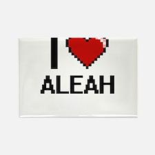 I Love Aleah Digital Retro Design Magnets