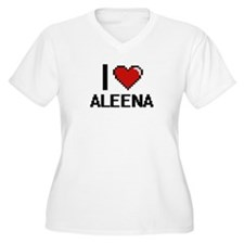 I Love Aleena Digital Retro Desi Plus Size T-Shirt