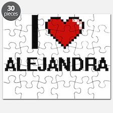 I Love Alejandra Digital Retro Design Puzzle