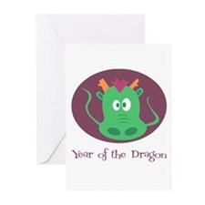 Cartoon Year of the Dragon Greeting Cards (Pk of 1