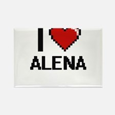I Love Alena Digital Retro Design Magnets