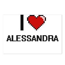 I Love Alessandra Digital Postcards (Package of 8)