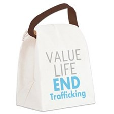 Value LIfe - End Trafficking Canvas Lunch Bag