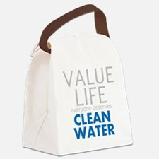 Value Life - Clean Water Canvas Lunch Bag