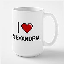 I Love Alexandria Digital Retro Design Mugs