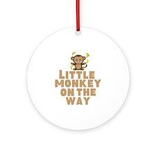Little Monkey Ornament (Round)