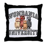 Wombania University Throw Pillow