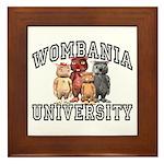 Wombania University Framed Tile