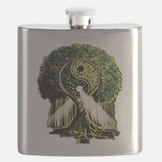 Yin Yang Tree Flask