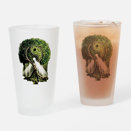 Yin Yang Tree Drinking Glass