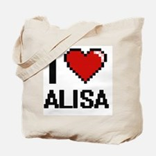 I Love Alisa Digital Retro Design Tote Bag
