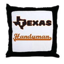 Texas Handyman Throw Pillow