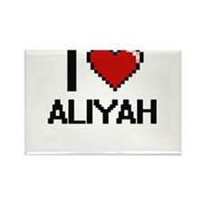 I Love Aliyah Digital Retro Design Magnets