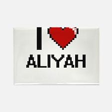 I Love Aliyah Digital Retro Design Magnets