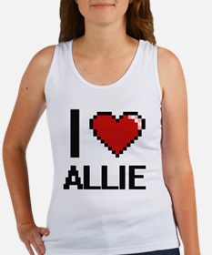 I Love Allie Digital Retro Design Tank Top