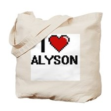 I Love Alyson Digital Retro Design Tote Bag
