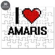 I Love Amaris Digital Retro Design Puzzle