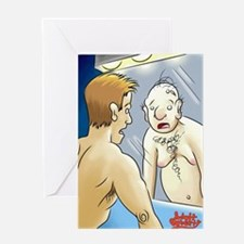 Adult Puberty in the mirror Greeting Card
