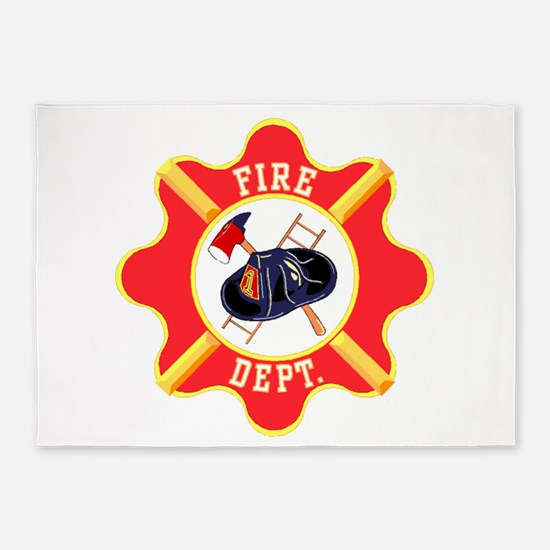 Fire Department 5'x7'Area Rug