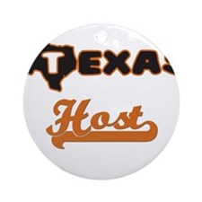 Texas Host Ornament (Round)